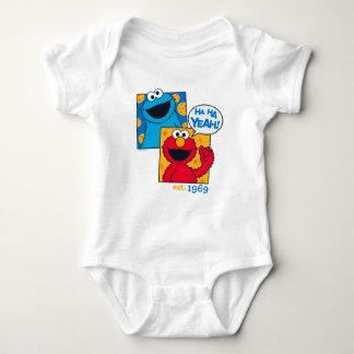 Cookie Monster & Elmo | Ha Ha Yeah Baby Bodysuit