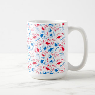Cookie Monster & Elmo | Red & Blue Pattern Coffee Mug