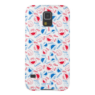 Cookie Monster & Elmo | Red & Blue Pattern Galaxy S5 Covers