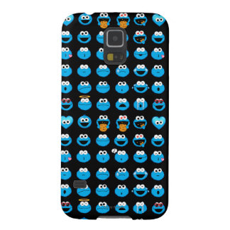 Cookie Monster Emoji Pattern Cases For Galaxy S5
