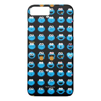 Cookie Monster Emoji Pattern iPhone 8 Plus/7 Plus Case