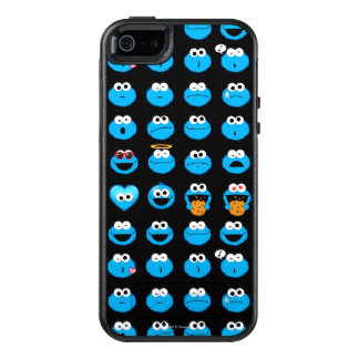 Cookie Monster Emoji Pattern OtterBox iPhone 5/5s/SE Case