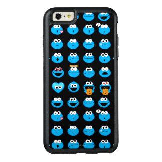 Cookie Monster Emoji Pattern OtterBox iPhone 6/6s Plus Case