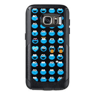 Cookie Monster Emoji Pattern OtterBox Samsung Galaxy S7 Case