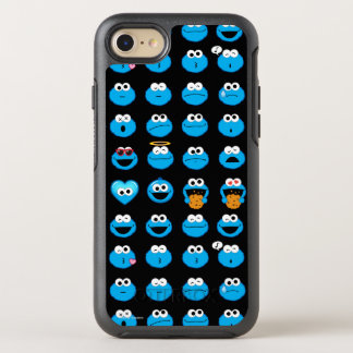 Cookie Monster Emoji Pattern OtterBox Symmetry iPhone 8/7 Case