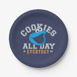 Cookie Monster Everyday Paper Plate