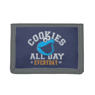 Cookie Monster Everyday Trifold Wallet