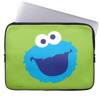 Cookie Monster Face Laptop Sleeve
