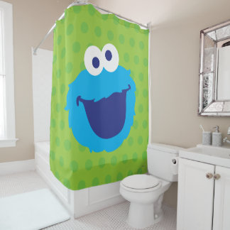 Cookie Monster Face Shower Curtain