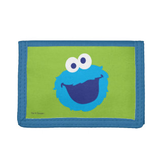 Cookie Monster Face Tri-fold Wallet