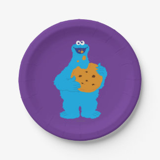 Cookie Monster Graphic 7 Inch Paper Plate