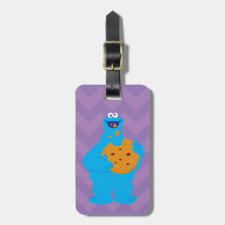Cookie Monster Graphic Luggage Tag