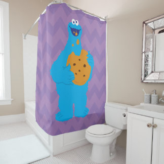 Cookie Monster Graphic Shower Curtain