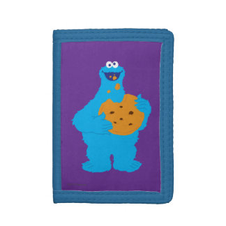 Cookie Monster Graphic Tri-fold Wallets