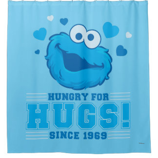 Cookie Monster Hugs Shower Curtain