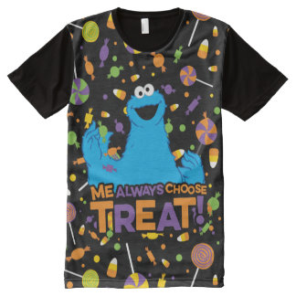 Cookie Monster - Me Always Choose Treat All-Over Print T-Shirt