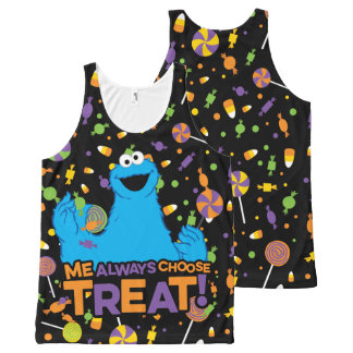 Cookie Monster - Me Always Choose Treat All-Over Print Tank Top