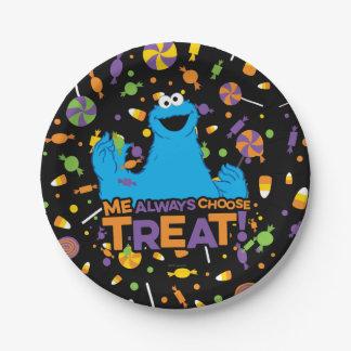 Cookie Monster - Me Always Choose Treat Paper Plate