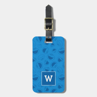 Cookie Monster | Me Awesome Blue Pattern Bag Tag
