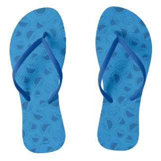 Cookie Monster | Me Awesome Blue Pattern Flip Flops
