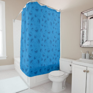 Cookie Monster | Me Awesome Blue Pattern Shower Curtain