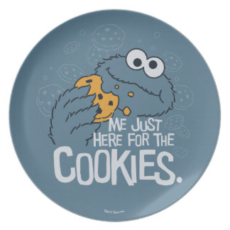Cookie Monster   Me Just Here for the Cookies Plate