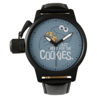 Cookie Monster | Me Just Here for the Cookies Wrist Watches