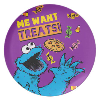 Cookie Monster - Me Wants Treats Plate