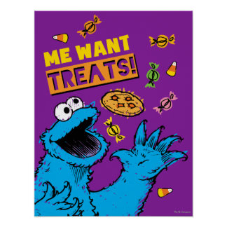 Cookie Monster - Me Wants Treats Poster