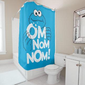 Cookie Monster   Om Nom Nom! Shower Curtain