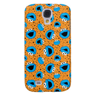 Cookie Monster on Cookie Pattern Galaxy S4 Case