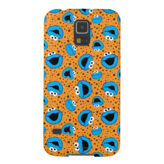 Cookie Monster on Cookie Pattern Galaxy S5 Cases