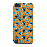 Cookie Monster on Cookie Pattern iPod Touch (5th Generation) Covers