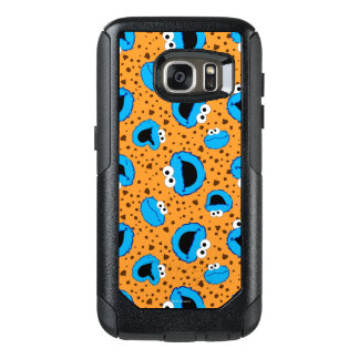 Cookie Monster on Cookie Pattern OtterBox Samsung Galaxy S7 Case