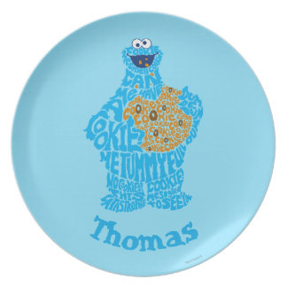 Cookie Monster Pattern   Add Your Name Plate