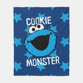 Cookie Monster Pattern Face Fleece Blanket