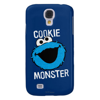 Cookie Monster Pattern Face Galaxy S4 Case
