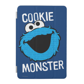 Cookie Monster Pattern Face iPad Mini Cover
