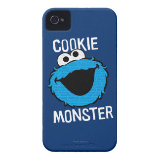 Cookie Monster Pattern Face iPhone 4 Cases