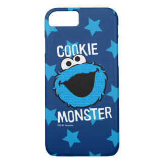 Cookie Monster Pattern Face iPhone 7 Case