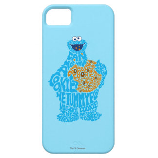 Cookie Monster Pattern Fill Barely There iPhone 5 Case