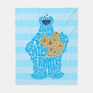 Cookie Monster Pattern Fill Fleece Blanket