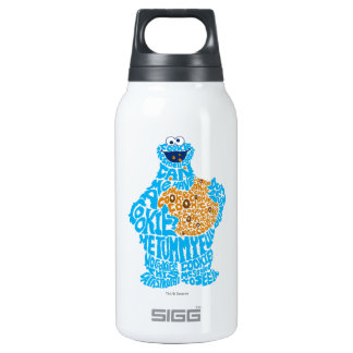 Cookie Monster Pattern Fill Insulated Water Bottle