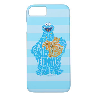 Cookie Monster Pattern Fill iPhone 8/7 Case