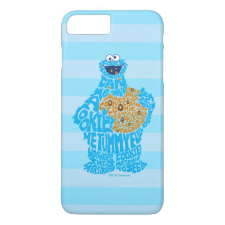 Cookie Monster Pattern Fill iPhone 8 Plus/7 Plus Case