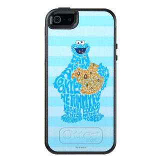 Cookie Monster Pattern Fill OtterBox iPhone 5/5s/SE Case
