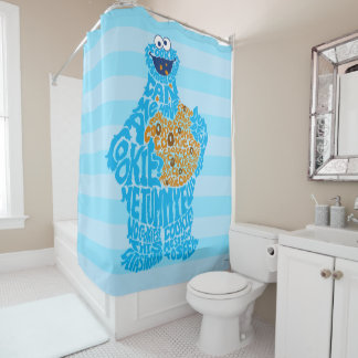 Cookie Monster Pattern Fill Shower Curtain