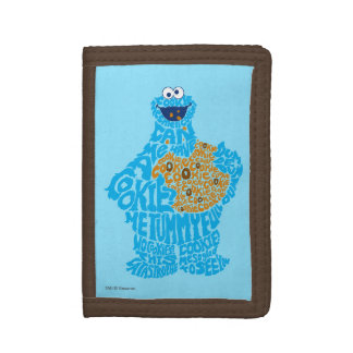 Cookie Monster Pattern Fill Tri-fold Wallets