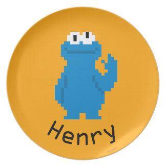 Cookie Monster Pixel Art | Add Your Name Plates
