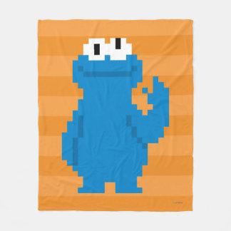 Cookie Monster Pixel Art Fleece Blanket